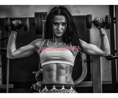 About gym : barbell squats - 95 kgs; deadlift - 70kgs; bench press legs - 245 kgs; bench...